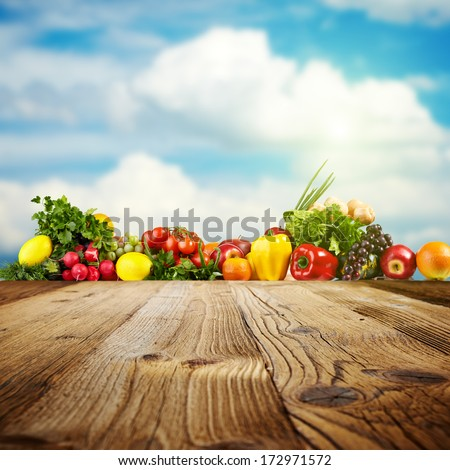 Vegetable background with copy-space for You project - stock photo