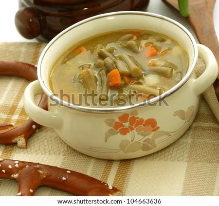 vegetable bean soup - stock photo