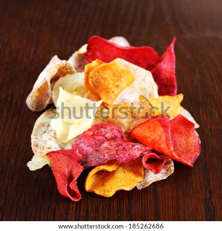 vegetable chips - stock photo