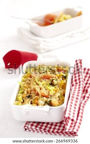 Vegetable Gratin in Portions - stock photo