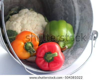 vegetable in a bucket