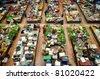 Vegetable market in Kota Bharu, Kelantan, Malaysia, Asia - stock photo
