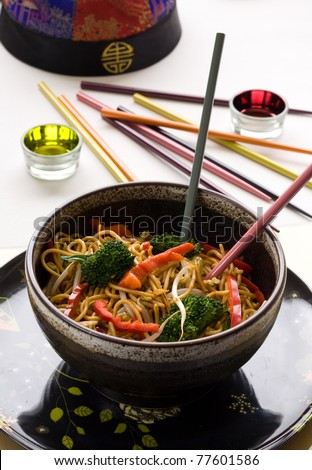 vegetable noodle - stock photo