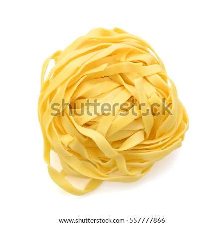 vegetable noodles isolated on white background