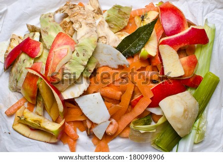 Vegetable peelings - stock photo