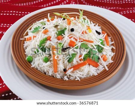 Vegetable Rice 2 - stock photo