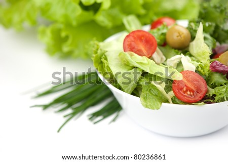 vegetable salad close up - stock photo