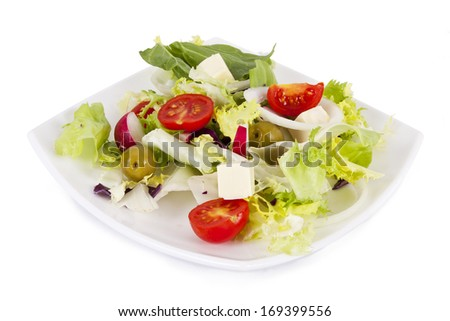 vegetable salad healthy and balanced diet, creative cuisine