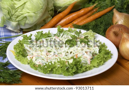 vegetable salad with mayonnaise