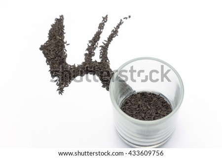 vegetable seeds in glass