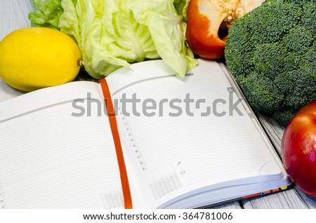 Vegetable slimming healthy food full of vitamins - stock photo
