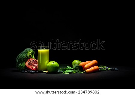 Vegetable Smoothie - stock photo