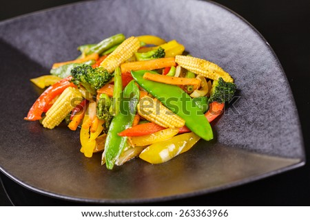 Vegetable stir-fry - stock photo