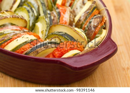 Vegetable Tian - stock photo