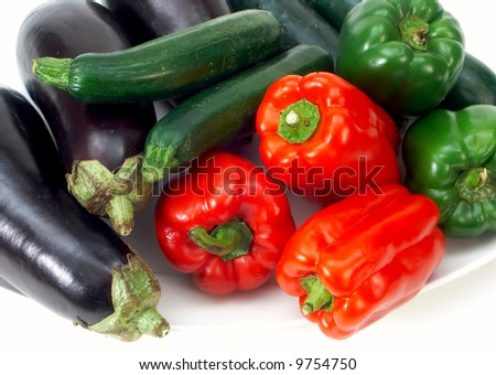 vegetable with red pepper - stock photo