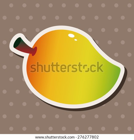 vegetables and fruits , cartoon sticker icon