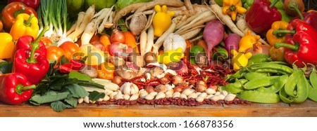 Vegetables and Herbs - stock photo