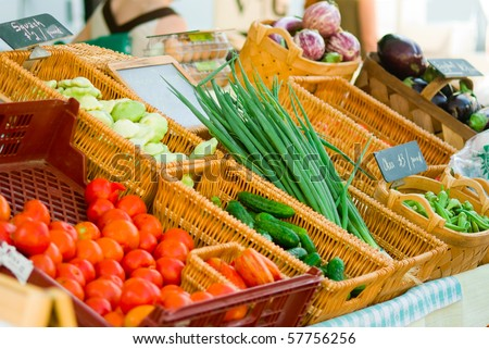 Vegetables at farmer's market - stock photo