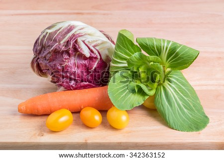 vegetables background - stock photo