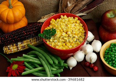 Vegetables For A Thanksgiving Feast - stock photo