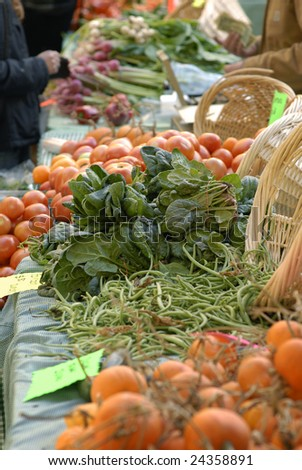 Vegetables for sale at a outdoor market. - stock photo
