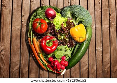 Vegetables Heart - stock photo