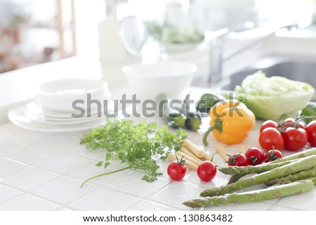 Vegetables in the kitchen - stock photo