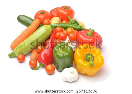 vegetables isolated - stock photo