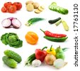 vegetables isolated on the white background - stock photo