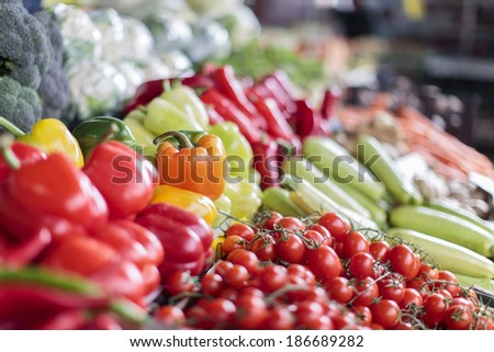Vegetables on the market - stock photo