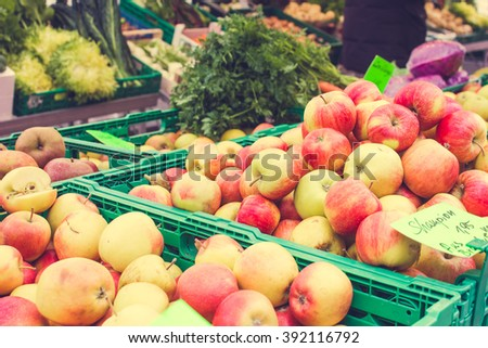 Vegetables on the Market for Sale - stock photo