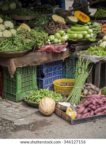 Vegetables on the market in Mumbai, India
