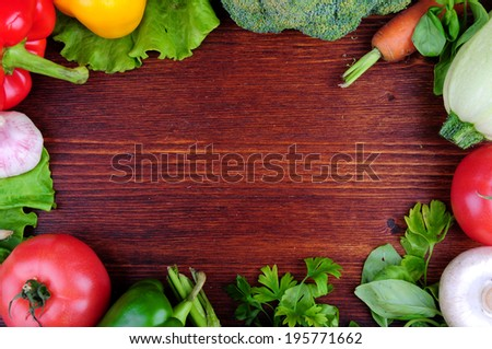 vegetables on the table - stock photo