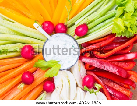 Vegetables plate top view.Diet, healthy food concept, vegan, raw.