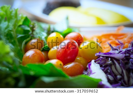 vegetables salad, food for health concept - stock photo
