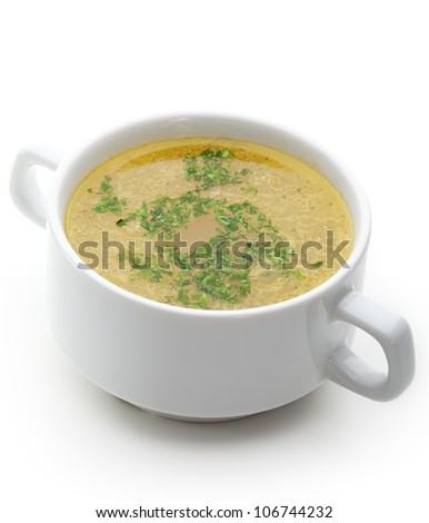Vegetables Soup with Herbs - stock photo