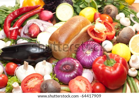 vegetables with bread