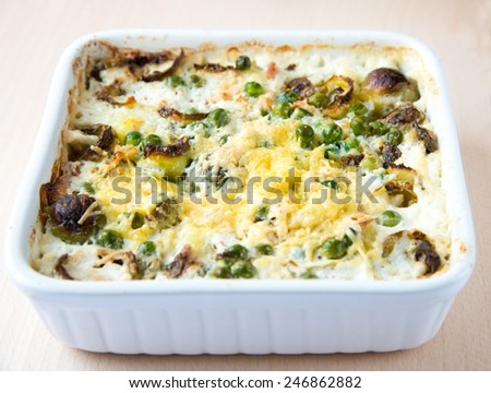 Vegetables with cheese - stock photo