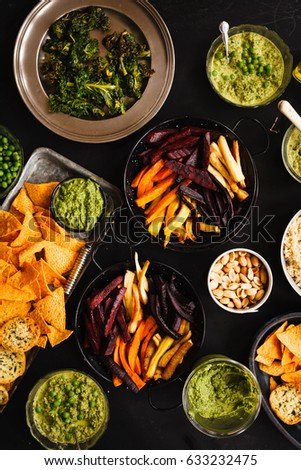 vegetarian dinner party snacks cheese carrots stock photo edit now