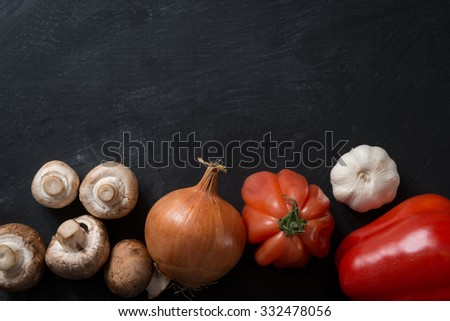 Vegetarian food cooking concept - stock photo