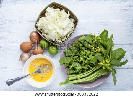 Vegetarian food preparation  - stock photo