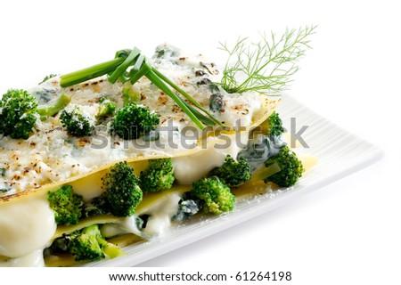 vegetarian lasagna - stock photo
