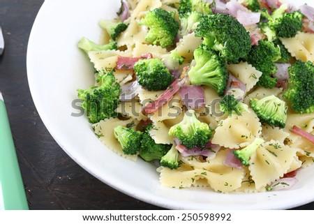 vegetarian pasta salad - stock photo