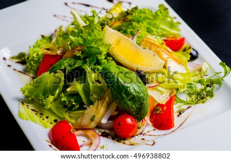 vegetarian salad with artichoke and another vegetables