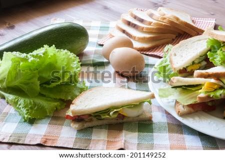 Vegetarian sandwich/Vegetarian sandwich/Vegetarian sandwich/Vegetarian sandwich - stock photo
