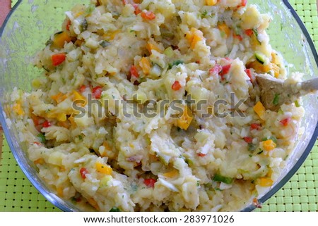 veggi potato salad 4 - stock photo