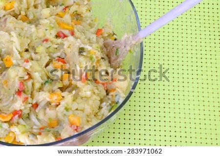 veggi potato salad 6 - stock photo