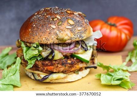 Veggie burger - stock photo