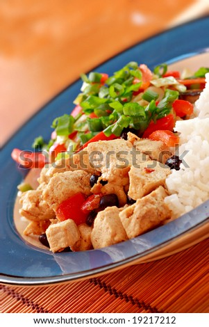 veggie meal - stock photo