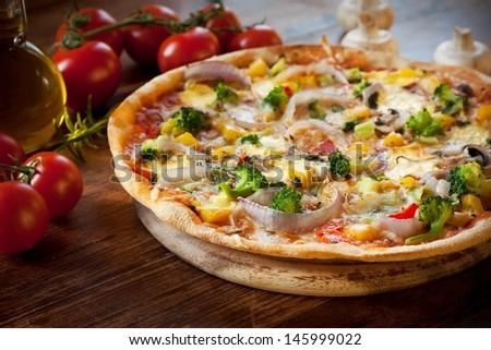 Veggie Pizza - stock photo